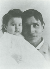 Photo of Charles Eastman (Ohiyesa) and his daughter Dora in 1892