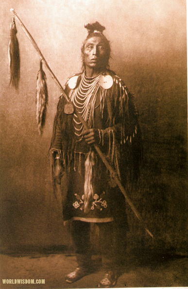 """Apsaroke war-chief"" - Apsaroke, by Edward S. Curtis from The North American Indian Volume 4"