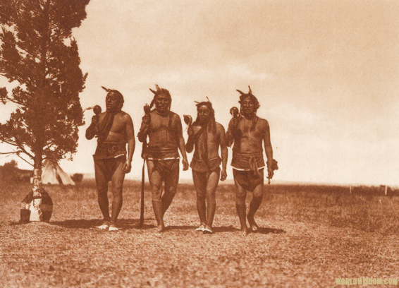 """Arikara medicine ceremony : Night men dancing"" - Arikara, by Edward S. Curtis from The North American Indian Volume 5"