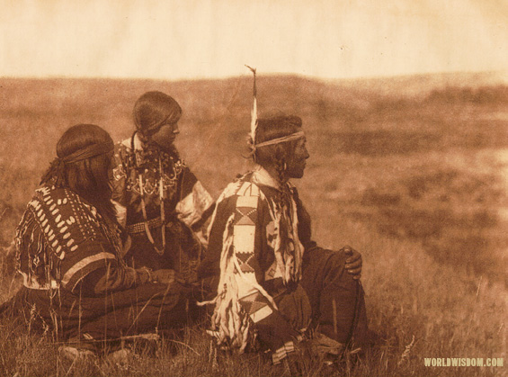 """Overlooking the camp"" - Piegan, by Edward S. Curtis from The North American Indian Volume 6"