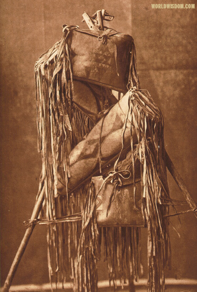 """Medicine-bags"" - Piegan, by Edward S. Curtis from The North American Indian Volume 6"