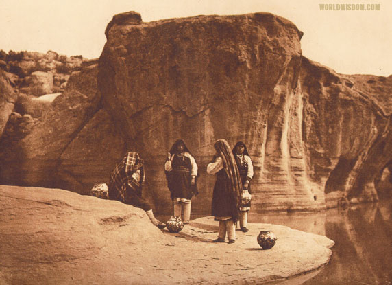 """A morning chat"" - Acoma, by Edward S. Curtis from The North American Indian Volume 16"