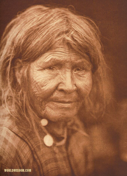 """A Sasri women"", by Edward S. Curtis from The North American Indian Volume 18"
