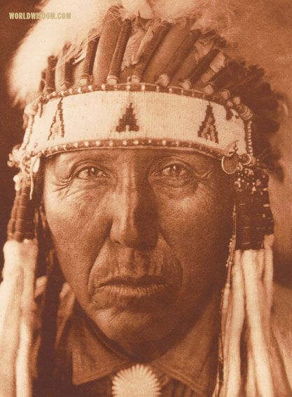 """Red Bird"" - Southern Cheyenne, by Edward S. Curtis from The North American Indian Volume 19"